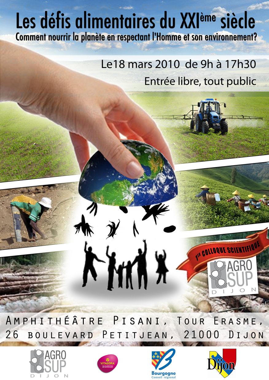Cette affiche était un travail freelance faite pour un colloque organisé par des élèves d'une école d'ingénieur en agroalimentaire.